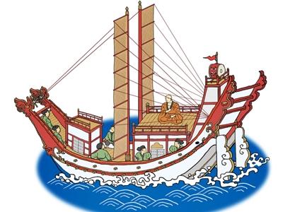 長崎と大陸を結んだ遣唐使船